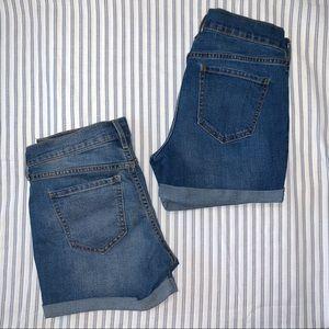 Old Navy Regular Jean Shorts Bundle Size 4